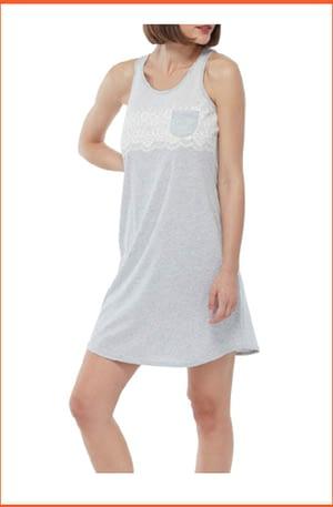 Camicia da Notte Lovable Spalla Larga con Pizzo Stampato L09GW