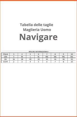 Maglia Uomo Navigare 516 Mezza Manica Girocollo Cotone