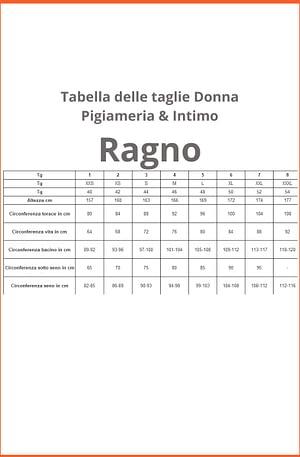 Canotta Donna Ragno Spalla larga con Forme Lana Merino & Seta 700754