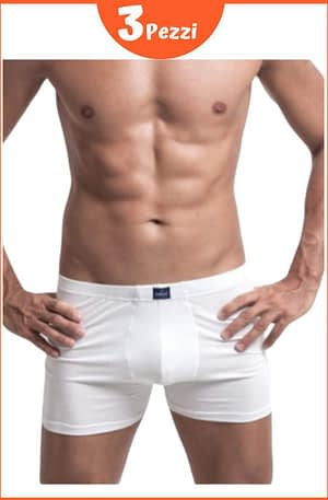Boxer Uomo Snelly cotone elasticizzato U100 con Elastico Interno 3 pezzi
