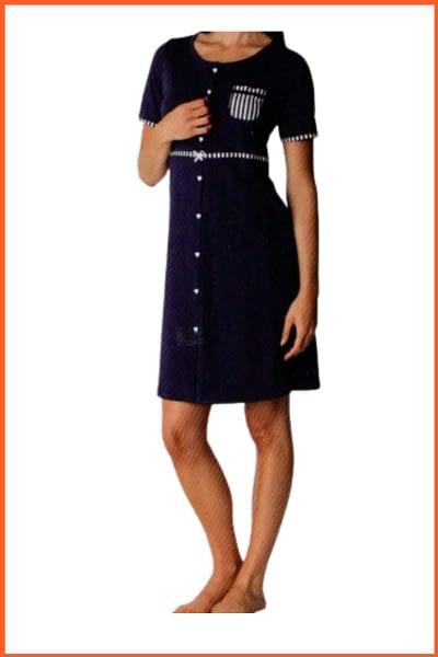 Camicia da Notte Lovable Mezza Manica Abbottonata Clinica L0B7D